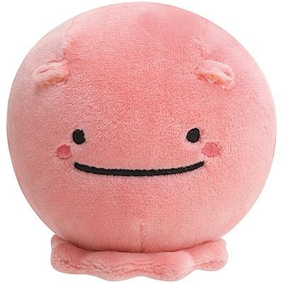 鯨鯊先生微笑的臉系列丸子QQ掌心公仔粉紅章魚San-X