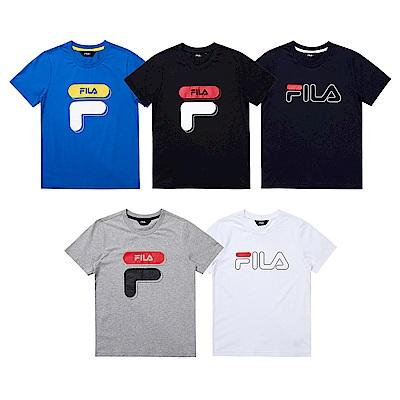 [限時爆款] FILA KIDS 男女童裝純棉上衣/吸濕排汗短褲(任選)(尺寸135-165cm)