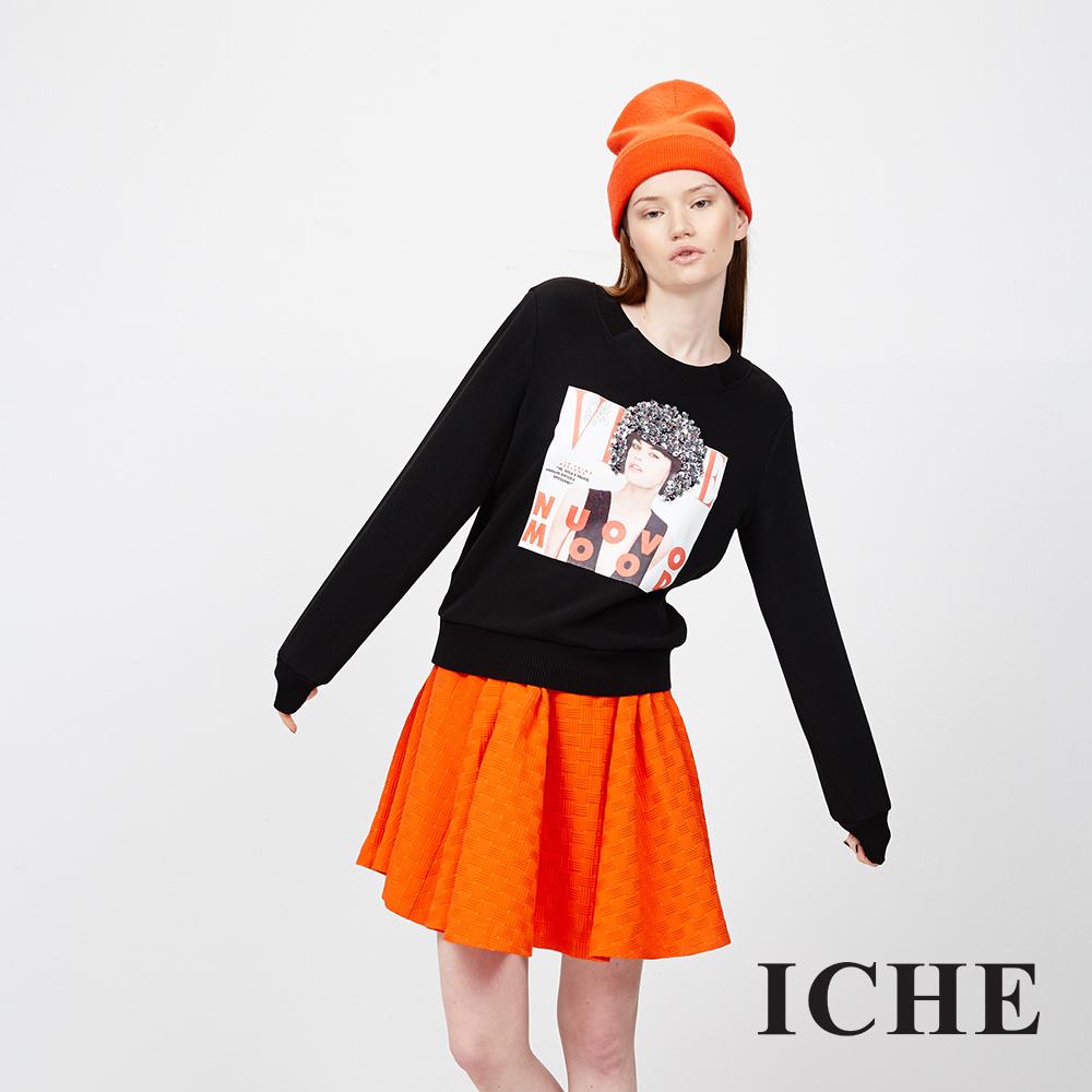 ICHE 衣哲 立體紋造型圓裙