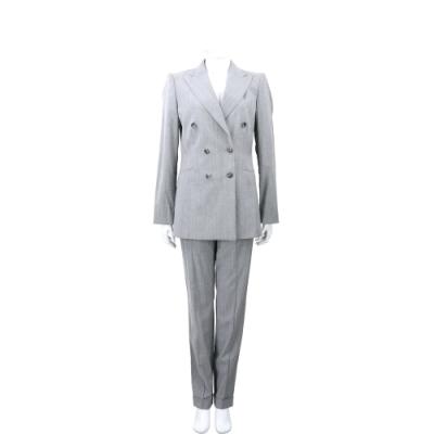 MASKA BASE 麻灰色羊毛西裝套裝 外套 西裝褲