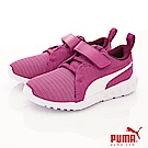 PUMA童鞋 輕量針織運動款 ON90565-13紫白(中小童段)