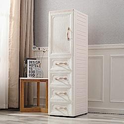 【Mr.box】鄉村風歐式細縫櫃(單門三層4抽屜收納櫃)