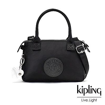 Kipling 亞洲限定款隕星黑素面小巧手提肩背包-LERIA
