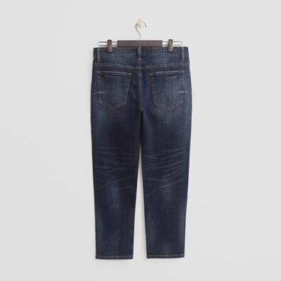 Hang Ten - 男裝 - 復古刷色彈性牛仔褲-深藍