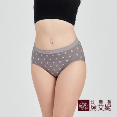 席艾妮SHIANEY 台灣製造 超彈力舒適內褲 抗菌竹炭纖維少女小花款-粉色