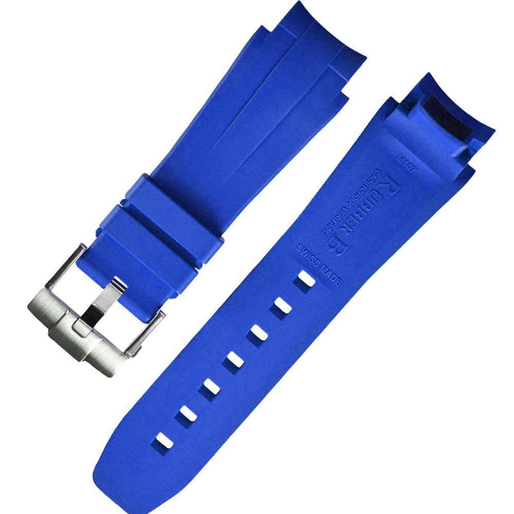 瑞士頂級 Rubber B 橡膠帶套組- 勞力士 116660 水鬼王44MM專用 寶藍