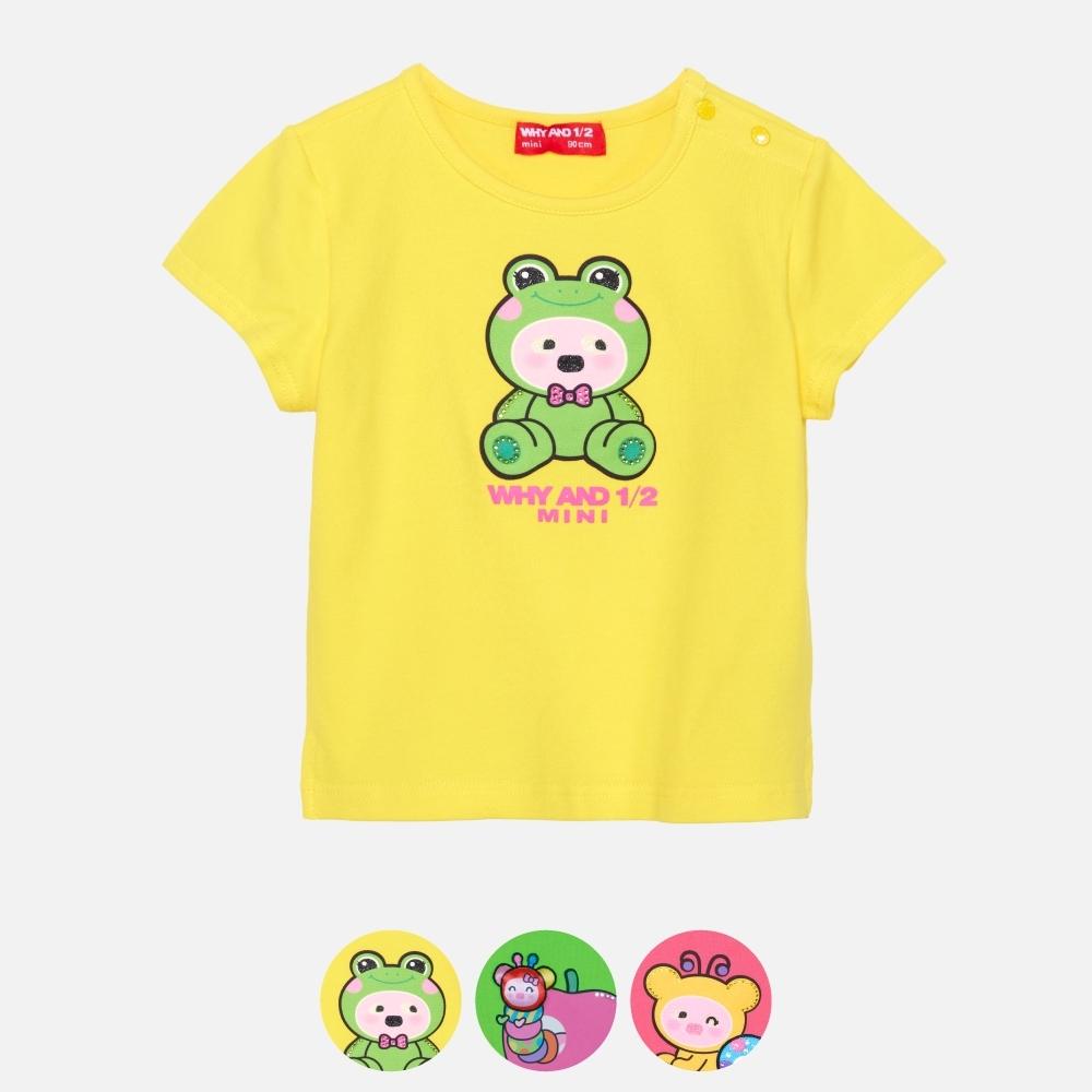 WHY AND 1/2 Mini 棉質萊卡T恤 多色可選 1Y ~ 4Y (黃色)