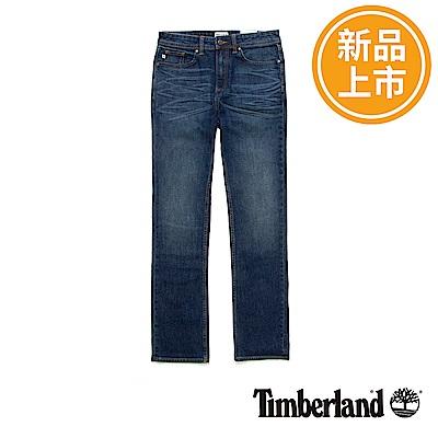Timberland 男款藍色刷白牛仔褲
