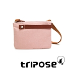 tripose 漫遊系列岩紋輕巧可拆式雙層斜揹小包 玫瑰粉