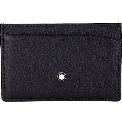 Mont Blanc 萬寶龍 大班系列荔紋軟皮袖珍型卡夾(黑色)