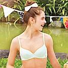 黛安芬-自然家庭日咖啡紗淺杯軟鋼圈內衣 A-C罩杯 藍綠