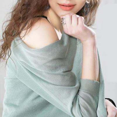 初色  長版針織罩衫-共9色-(M-2XL可選)