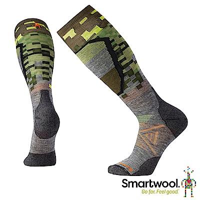 SmartWool PhD滑雪中級減震印花高筒襪 中性灰