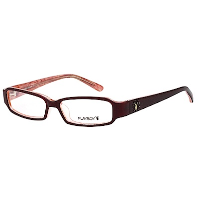 PLAYBOY-時尚光學眼鏡-酒紅色-PB85041