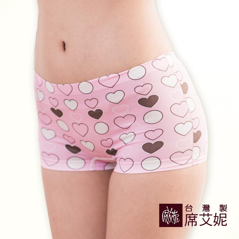 席艾妮SHIANEY 台灣製造(5件組)超彈力舒適印花四角內褲 可當安全褲/內搭褲