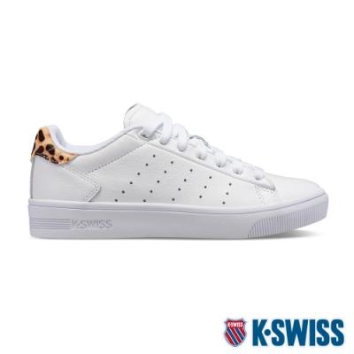 K-SWISS Court Frasco II時尚運動鞋-女-白/豹紋