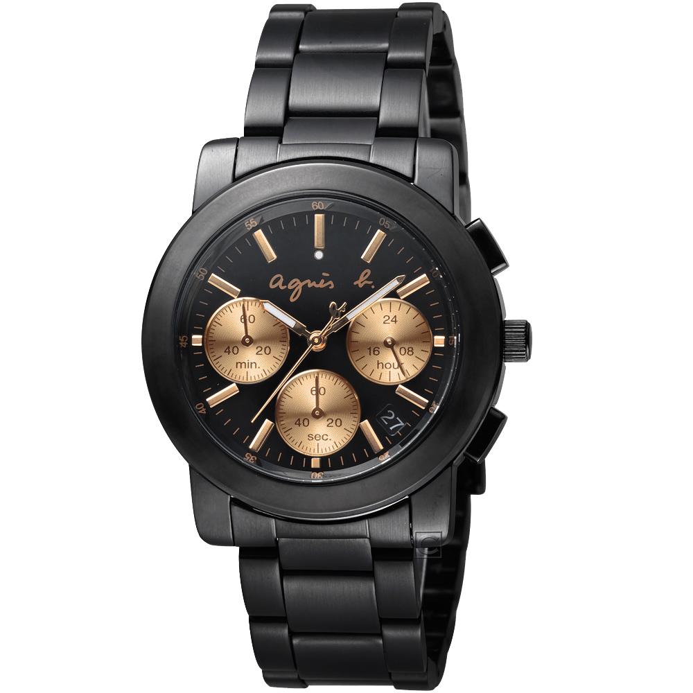 agnes b.都會迷幻時尚計時腕錶 (VD53-KP30K  BT3031X1)
