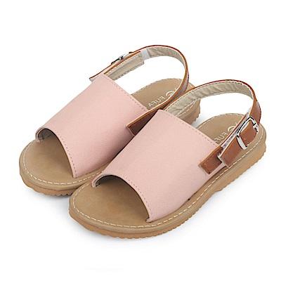 BuyGlasses 極簡寬面平底兒童涼拖鞋-杏