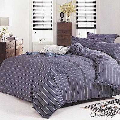 BUTTERFLY-台灣製造柔絲絨-特大6x7薄式床包枕套三件式-歐曼風尚