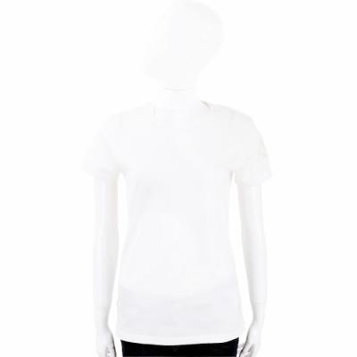 MONCLER 品牌徽章白色短袖T恤
