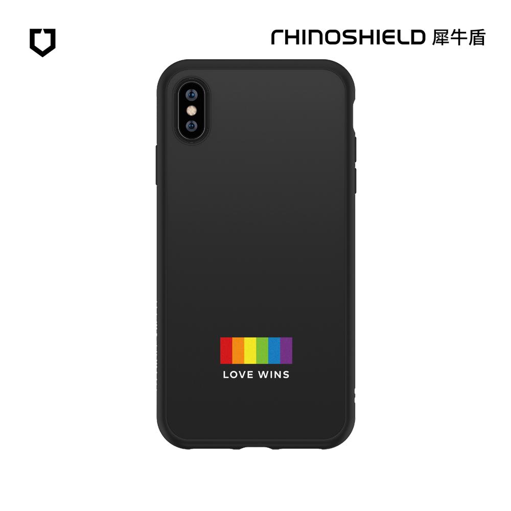 犀牛盾SolidSuit獨家設計防摔背蓋手機殼-wins彩虹