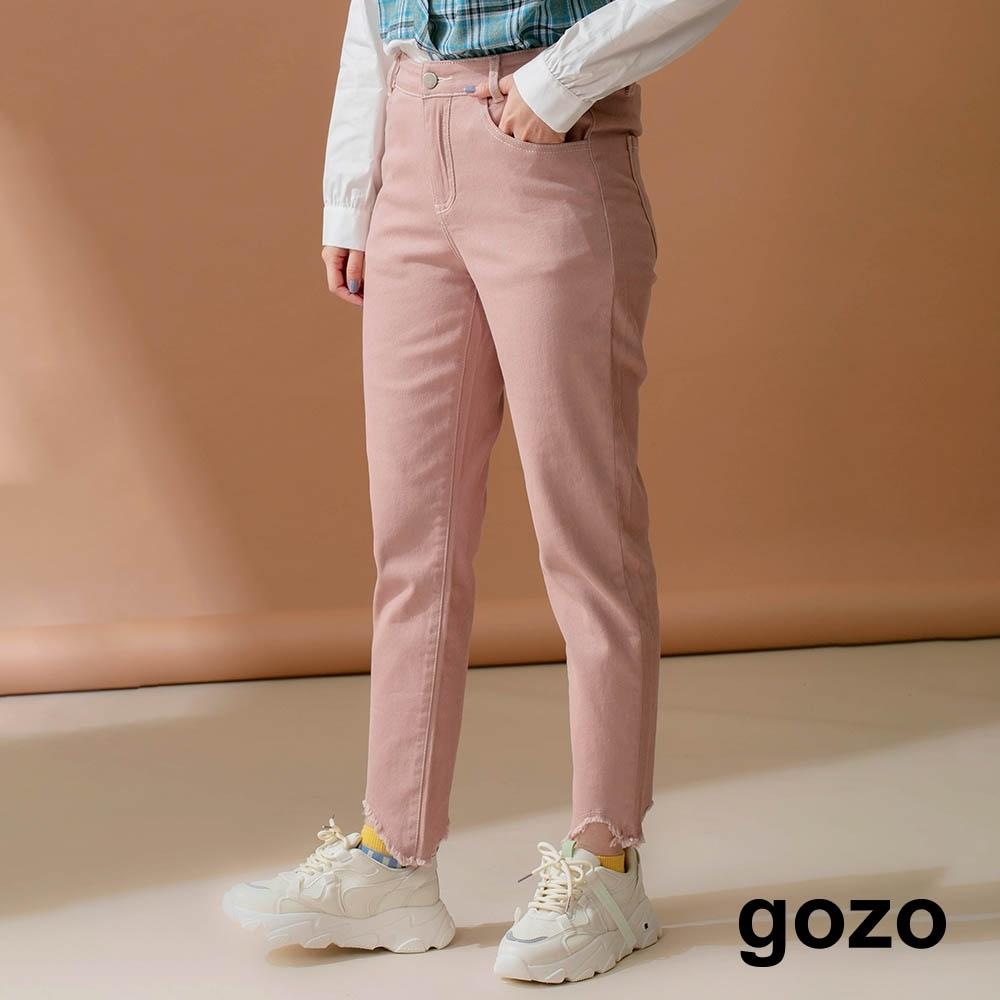 gozo-水洗斜紋布九分褲(三色)
