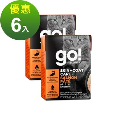 go! 豐醬野生鮭魚 182g 6件組 鮮食利樂貓餐包 (主食罐 肉泥)