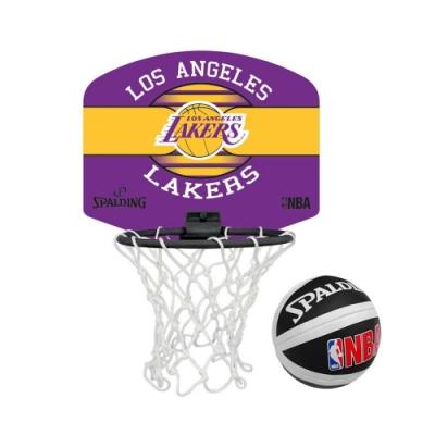 SPALDING 18小籃板-湖人-親子 籃框 籃板 NBA 斯伯丁 SPA77656 紫黃
