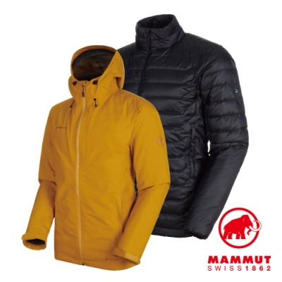 【Mammut 長毛象】Convey3in1 GTX兩件式 黃/黑 男#1010-27410