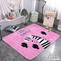 FOCA可愛斑馬  北歐簡約-100%云芙絨透氣多功能地墊-韓國設計(遊戲墊/床鋪墊)