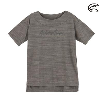 ADISI 女輕薄棉感一字領短袖排汗衣AL2011114 (S-2XL) 雙色深灰