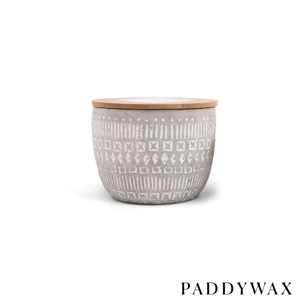 PADDYWAX 美國香氛 Sonora系列 煙草廣藿香 原木蓋復刻浮雕陶罐 85g