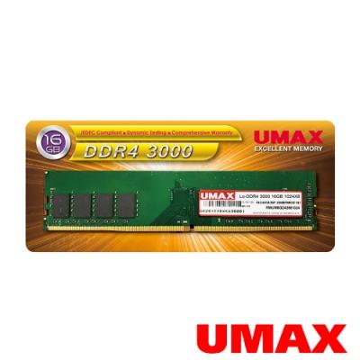 UMAX DDR4 3000 16GB 1024X8 桌上型記憶體