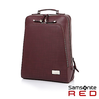Samsonite RED SANIBELLE 簡約商務女性筆電後背包14 (酒紅)