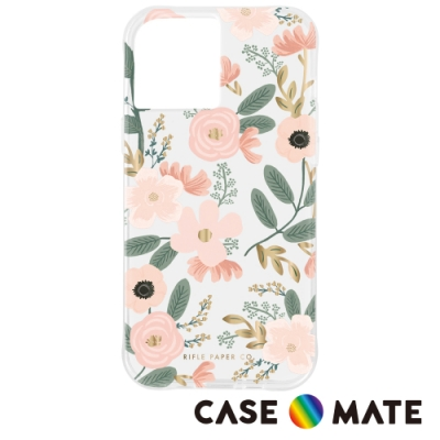美國 Case-Mate x Rifle Paper Co. 限量聯名款 iPhone 12 Pro Max 防摔抗菌手機保護殼 - 花園派對 - 粉