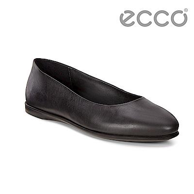 ECCO INCISE ENCHANT 超柔軟牛皮輕巧懶人鞋 女-黑