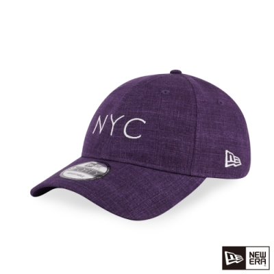 NEW ERA 9FORTY 940UNST 亞麻布料 NYC 紫色 棒球帽