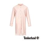 Timberland 女款粉色防潑水長版襯衫|B4608