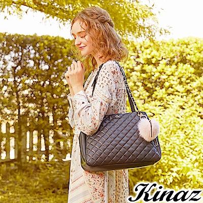 KINAZ 華麗心機兩用鏈帶托特包-露比系列