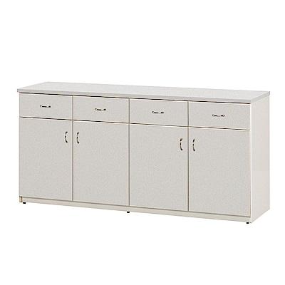 文創集 蘿倫環保5.4尺塑鋼四門四抽餐櫃(二色)-162x42x80cm-免組