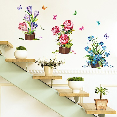 半島良品 DIY無痕壁貼-盆栽貼畫 XL7105 50x70cm