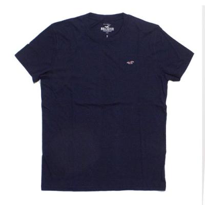 Hollister HCO 小海鷗Logo素色短袖T(男/深藍S)