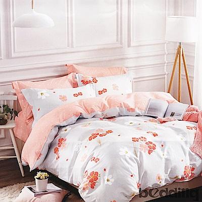 BEDDING-100%棉單人4.5x6.5尺薄式被套-粉櫻漫舞