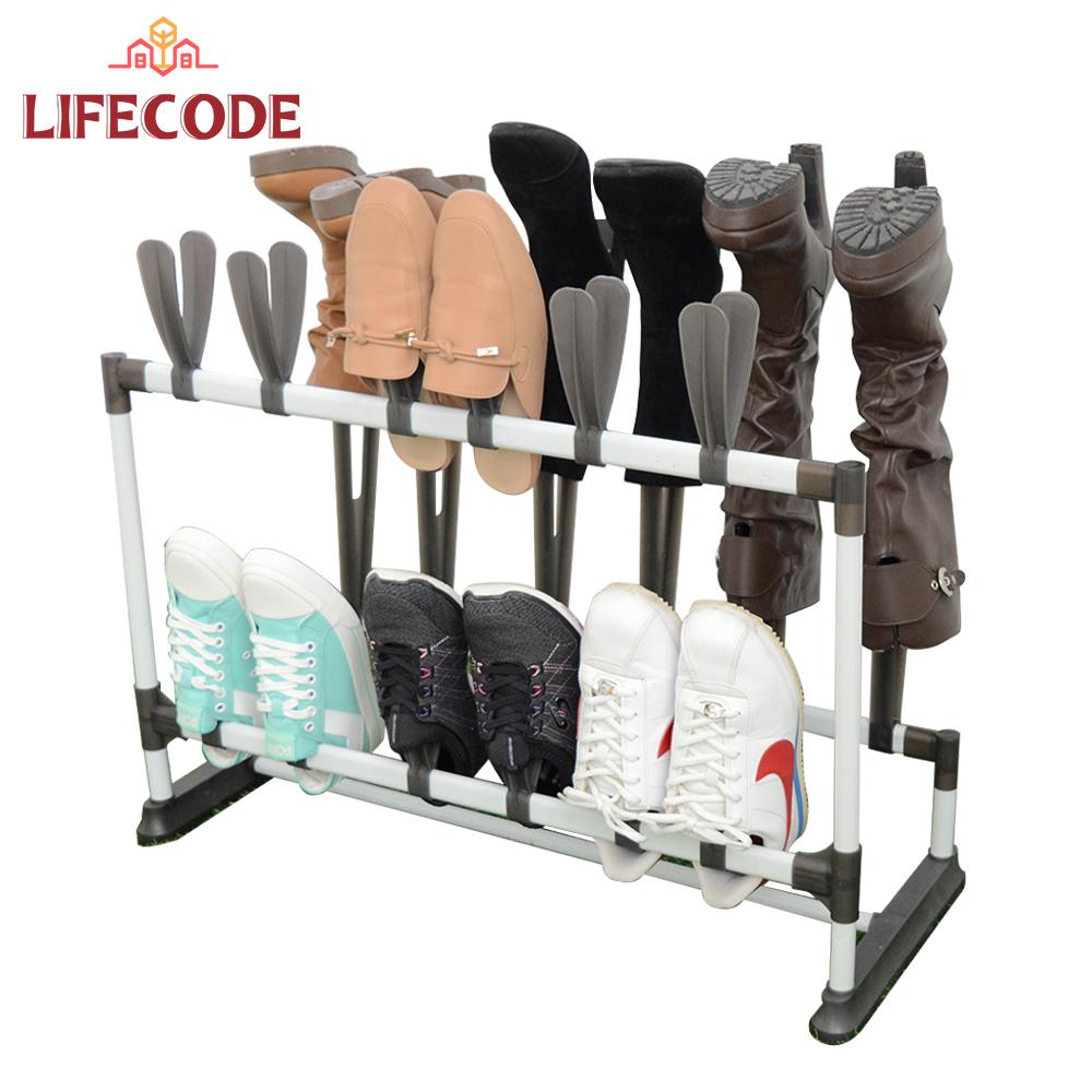 LIFECODE《瑞克斯》高筒雙排雙層鞋架(放3雙靴子+12雙鞋子)