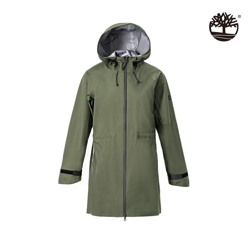Timberland 女款葡萄葉綠尼龍長版連帽外套 B5105