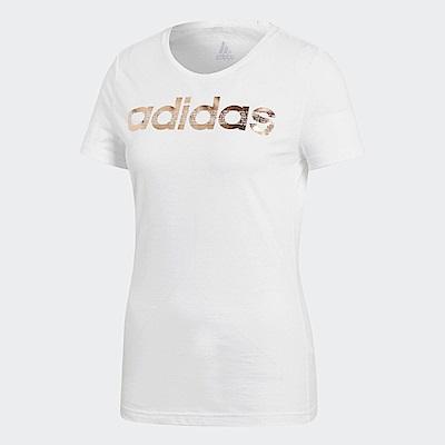 adidas T恤 Foil Linear 運動 女款