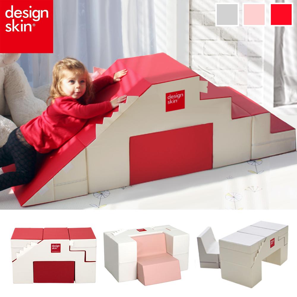 【韓國design skin】寶寶溜滑梯變形沙發桌椅(三色任選-感官統合訓練/兒童沙發) caring
