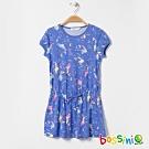 bossini女童-針織洋裝03天藍