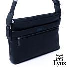 Lynx - 美國山貓商務紳士牛皮多拉鍊袋側背斜背包