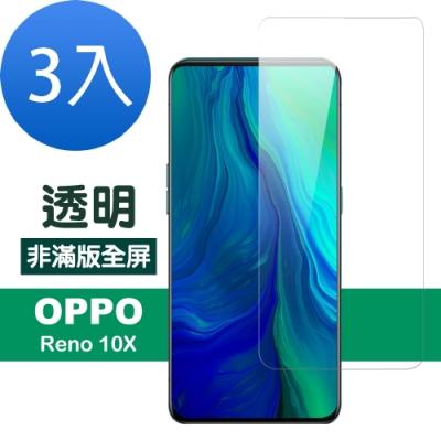 OPPO reno 十倍變焦 透明 高清 非滿版 防刮 保護貼-超值3入組